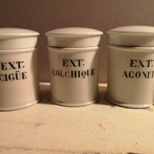 Lot pots d'apothicaire pharmacie EXT:
